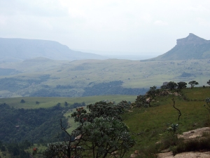 View of the Drakensberg Mountains and Royal Natal National Park from the Drakeisberg Mountain Retreat